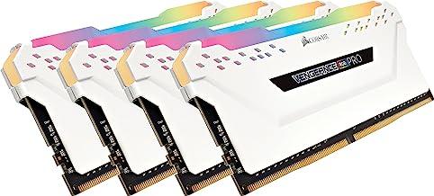 Corsair Vengeance RGB Pro 32GB (4x8GB) DDR4 3600MHz C18 LED Desktop Memory - White