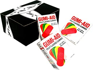 GUMI-AID Fruit Flavored Gummies, 3 oz Packages in a BlackTie Box (Pack of 3)
