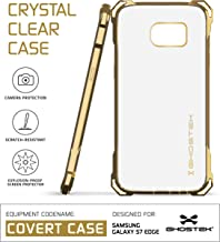 Ghostek S7 Edge Case, Covert Series for Samsung Galaxy S7 Edge Premium Impact Protective Armor Case Cover | Clear TPU | Explosion-Proof Screen Protector | Ultra Fit (Gold)