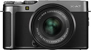 Fujifilm X-A7 Mirrorless Digital Camera w/XC15-45mm F3.5-5.6 OIS PZ Lens, Dark Silver