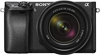 Sony Alpha a6300 ILCE6300M/B 24.2 MP Mirrorless Digital Camera with F3.5-5.6 OSS Zoom Lens, E 18-135mm, Black