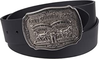 Levi's Men's Leather Belt With Plaque Buckle