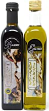 Antica Italia Italian Extra Virgin Olive Oil and Balsamic Vinegar of Modena IGP Gift Set, Imported Product of Italy, Great for Bread Dipping