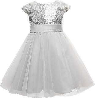 princhar Sequin Tulle Short Girl Dress Little Girls Party Toddler Dress