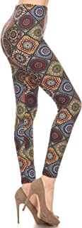 Leggings Depot Women`s Buttery Soft Classic Fashion Print Leggings BAT4