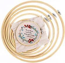IKAIN Embroidery Hoop,6 Pieces Bamboo Hoop Circle Cross Stitch Hoops 4 Inch to 10 Inch for Embroidery DIY Decoration and C...
