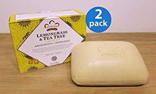 Lemongrass and Tea Tree Oil Soap Bar 5 Ounces- Pack of Two