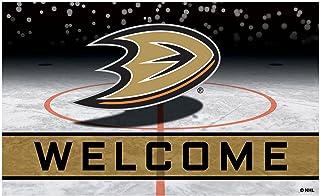 FANMATS 21262 Team Color Crumb Rubber Anaheim Ducks Door Mat, 1 Pack