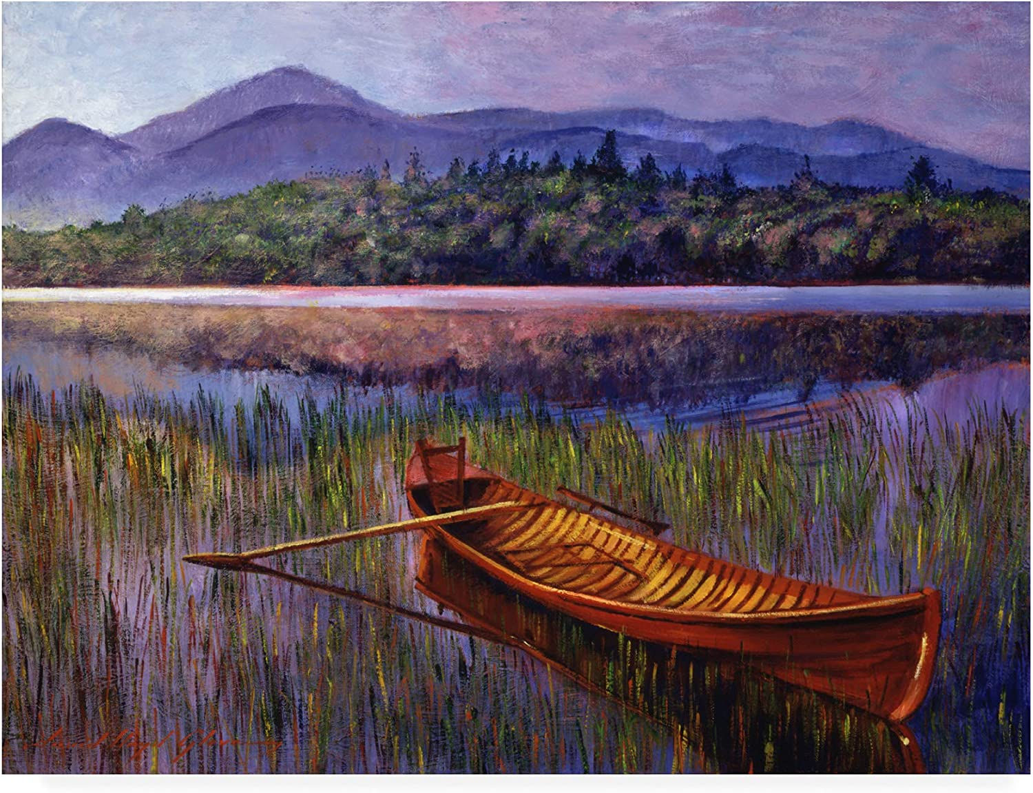 Cheap mail order shopping Trademark Fine Art Red Canoe Fresno Mall at Glover David by Rest Lloyd 24x3