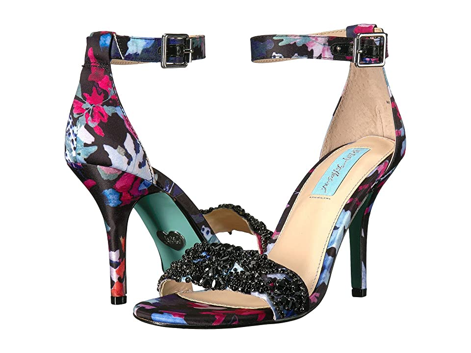 Blue by Betsey Johnson Gina (Black Floral) Women