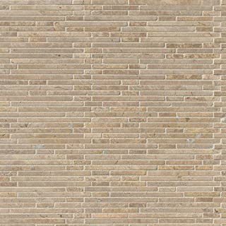 M S International Crema Ivy Bamboo 12 In. X 12 In. X 10mm Honed Marble Mesh-Mounted Mosaic Tile, (10 sq. ft., 10 pieces per case)