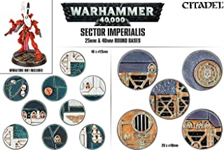 Games Workshop Sector Imperialis 25mm and 40mm Round Bases