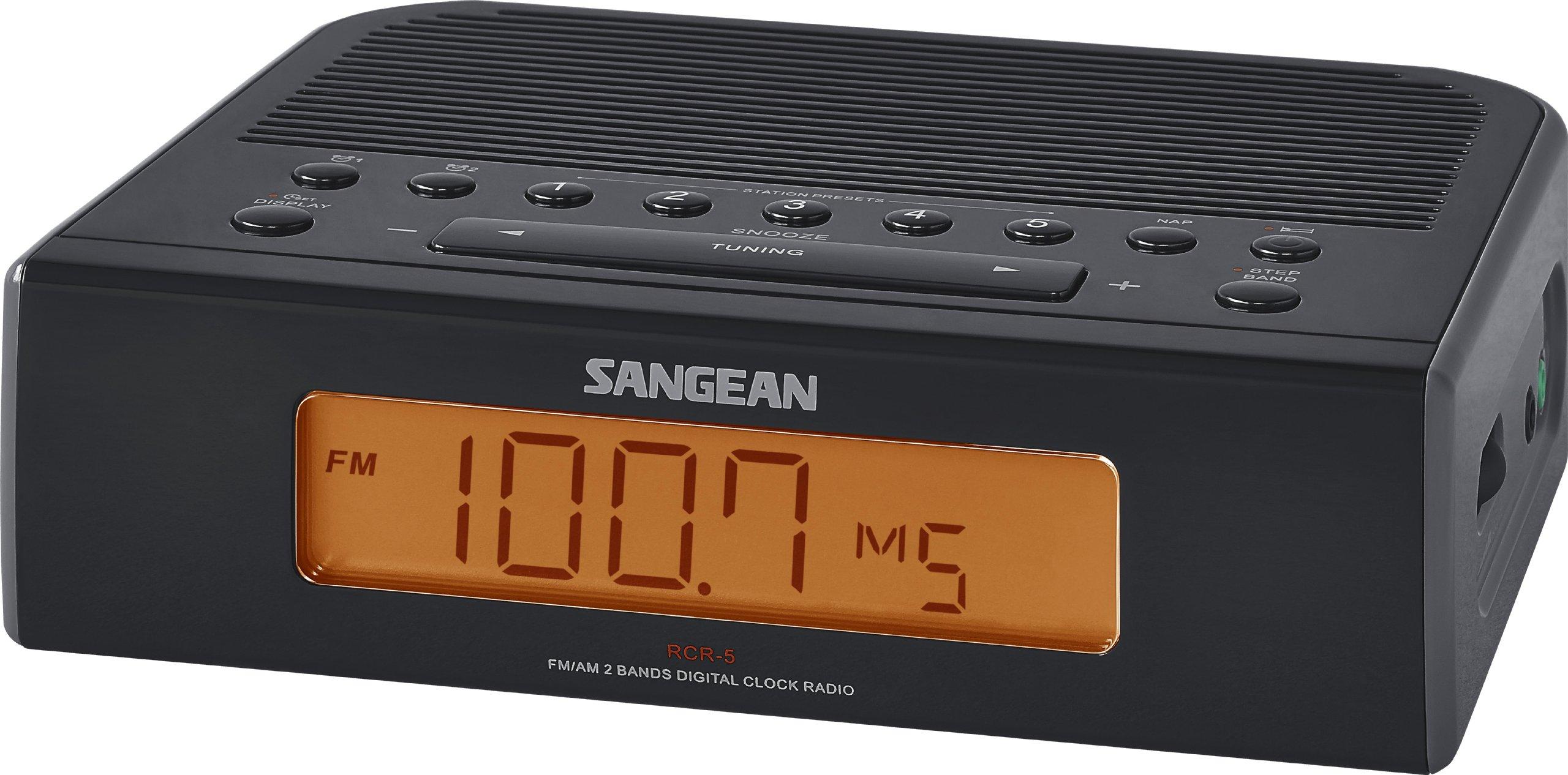 Sangean RCR 5BK Digital Clock Radio