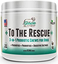 Probiotics for Dogs - 120 Soft Chews - All Natural Dog Probiotics, Prebiotics and Digestive Enzymes for Constipation, Immune Support, Diarrhea, Upset Stomach, and UTI's +To The Rescue+