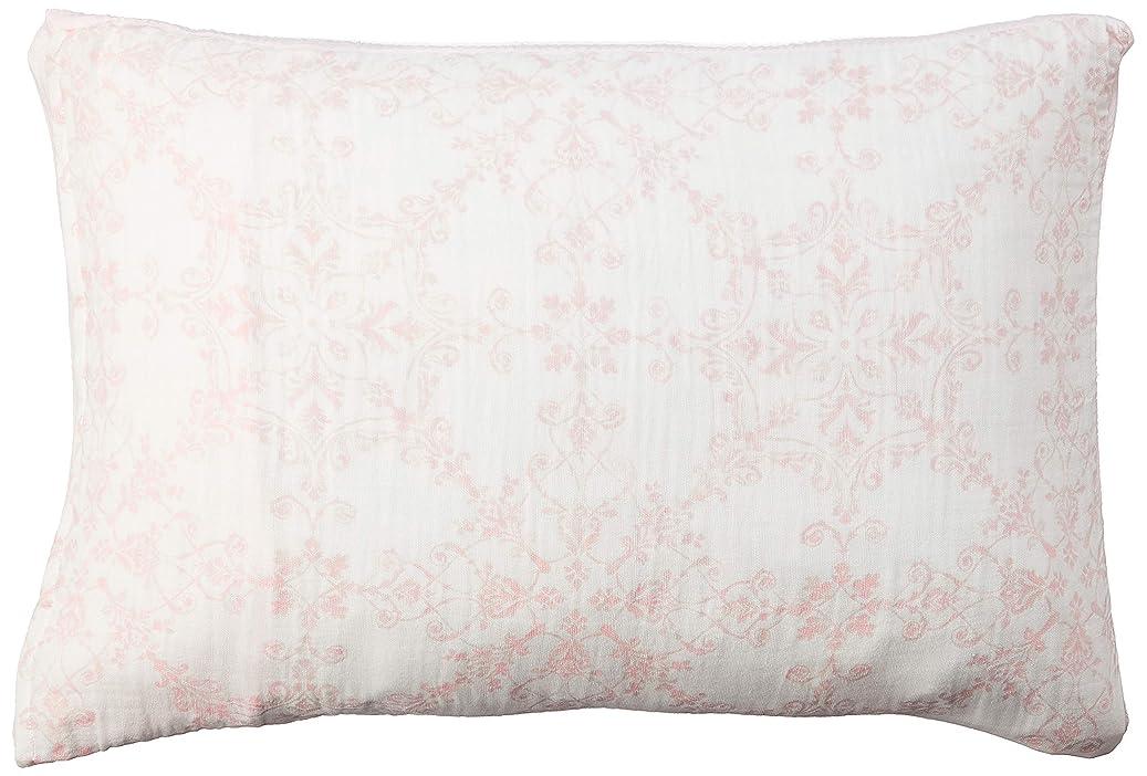 散る法律により農場西川(Nishikawa) 枕カバー ピンク 63X43cmのサイズの枕用 綿100% くしゅくしゅ やわらか5重ガーゼ マイモデル PJ09009005P