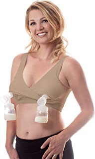 It's Back! Classic Pump&Nurse Nursing Bra with Built-in Hands-Free Pumping Bra and Adjustable Back Clasp