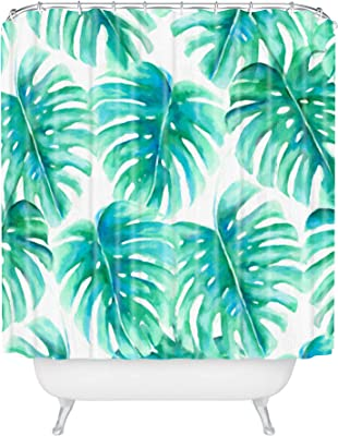 Deny Designs 71 by 74-Inch Zoe Wodarz Summer Porch Blue Shower Curtain Standard