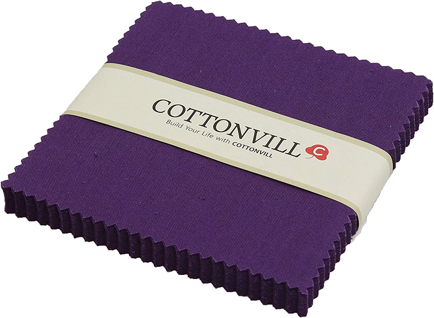 cheap Inexpensive COTTONVILL 20COUNT Cotton Solid Quilting Square 5inch Fabric 2