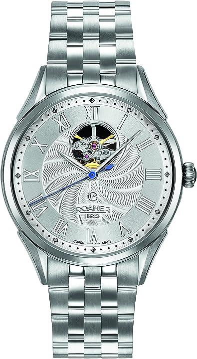 Orologio roamer da polso analogico uomo acciaio inossidabile argento 550661 41 22 50