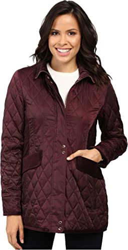 Quilted Jacket with Velvet Trim L8181