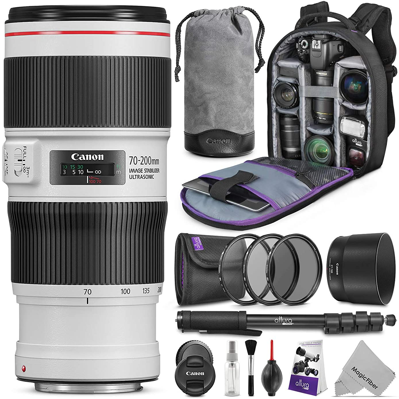 Canon EF 70?–?200?mm f/4L IS II USM 镜头 W / 高级照片和旅行套装