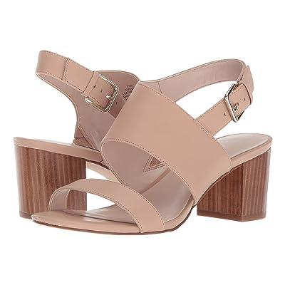 Nine West Forli Block Heel Sandal (Light Natural Leather) Women