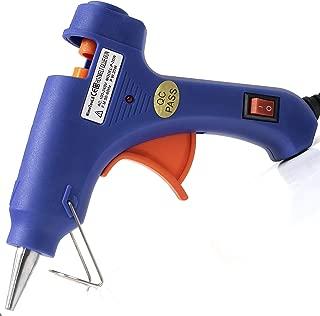 Polycomo Mini Hot Glue Gun with Refill Sticks – Craft Supply Kit with Auto Shutoff Kid Safe High Temp Pen, 32 Eco Friendly Hot Glue Sticks – Crafting, Decorating DIY Repair Gluing Tool