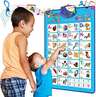 Just Smarty Electronic Interactive Alphabet Wall Chart, Talking ABC & 123s & Music Poster, Best Educational Toy for Toddle...