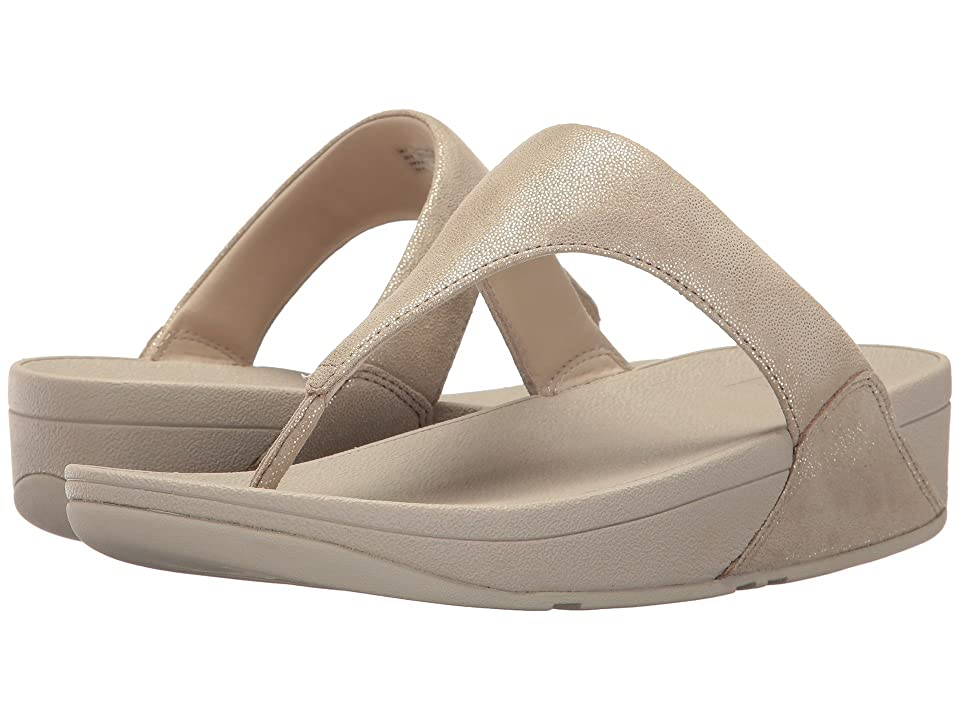 FitFlop Shimmy Suede Toe Post (Pale Gold) Women