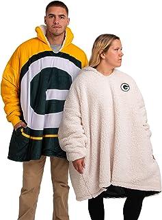 FOCO NFL Unisex Reversible Oversized Sherpa Hoodie Sweatshirt Colorblock Hoodeez