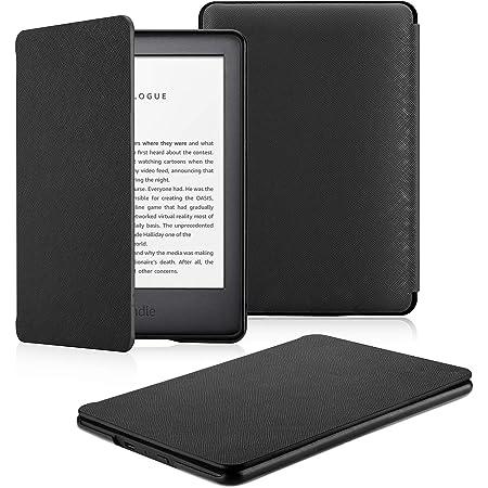 OMOTON Custodia Intelligente per Nuovo Kindle 2019 (Versione Base) Decima Generazione- Auto Wake/Sleep - Cover Sottile e Leggera in PU Pelle, Nero