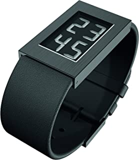 Watch Black Dial, Black IpCoating Case, Calf Skin Strap (1.3