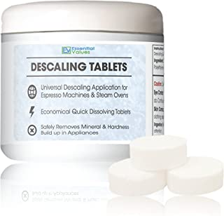 Descaling Tablets (12 Count/Up To 12 Uses) For Jura, Miele, Bosch, Tassimo Espresso Machines and Miele Steam Ovens by Essential Values