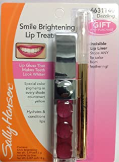 Sally Hansen Smile Brightening Lip Treatment Dazzling + Bonus Invisible LIP Liner