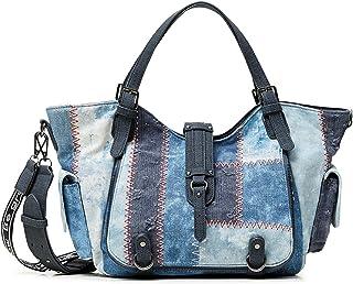 Desigual Womens Denim Shoulder Bag, Blue, U
