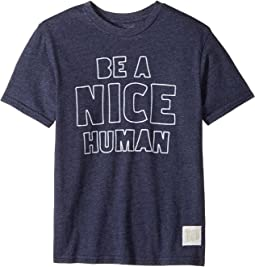 The Original Retro Brand Kids - Be A Nice Human Short Sleeve Tri-Blend Tee (Big Kids)