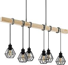 Lampa wisząca EGLO TOWNSHEND 5, 6-ogniskowa, lampa wisząca vintage w stylu industrialnym, lampa sufitowa retro wykonana ze...