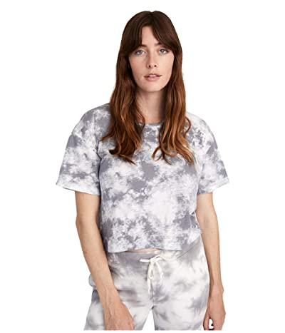 Alternative Relaxed Tie-Dyed Flowed Crop Top