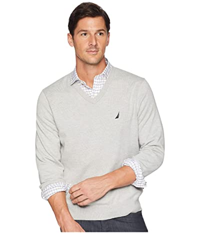 Nautica V-Neck Sweater (Grey Heather) Men