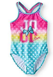 Girls JoJo Siwa Swimsuit One Piece UPF50 Green Bow