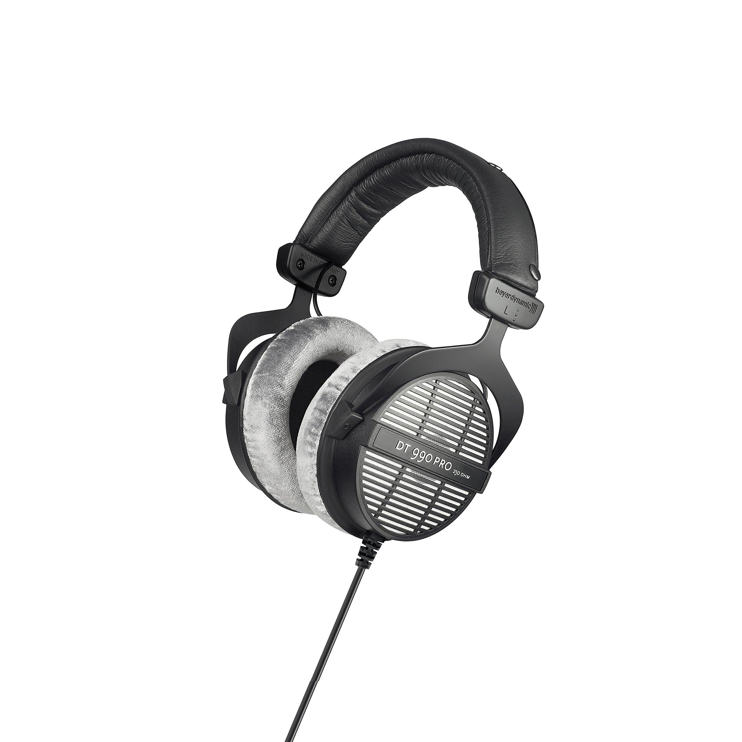 베이어다이나믹 DT990 Pro 250옴 오픈형 헤드폰 Beyerdynamic DT 990 Pro 250 ohm Headphones, Gray, (459038)