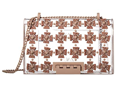 ZAC Zac Posen Earthette Chain Shoulder Floral Applique Glass (Mineral) Handbags