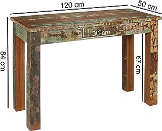 KADIMA Design Mesa de de la Consola ATTUKLAK 120 x 50 x 84 cm Mesa de Madera Maciza con Seguridad Balde aparador Dormitori...