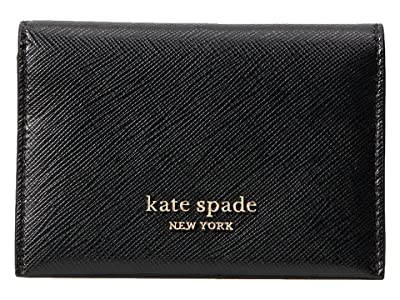 Kate Spade New York Spencer Bifold Card Case (Black) Handbags