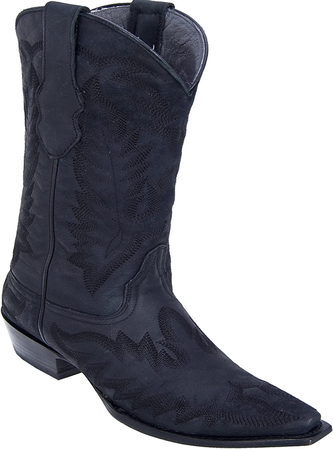 Women's Snip Toe Genuine Leather Desert With Embroidery Skin Western Boots