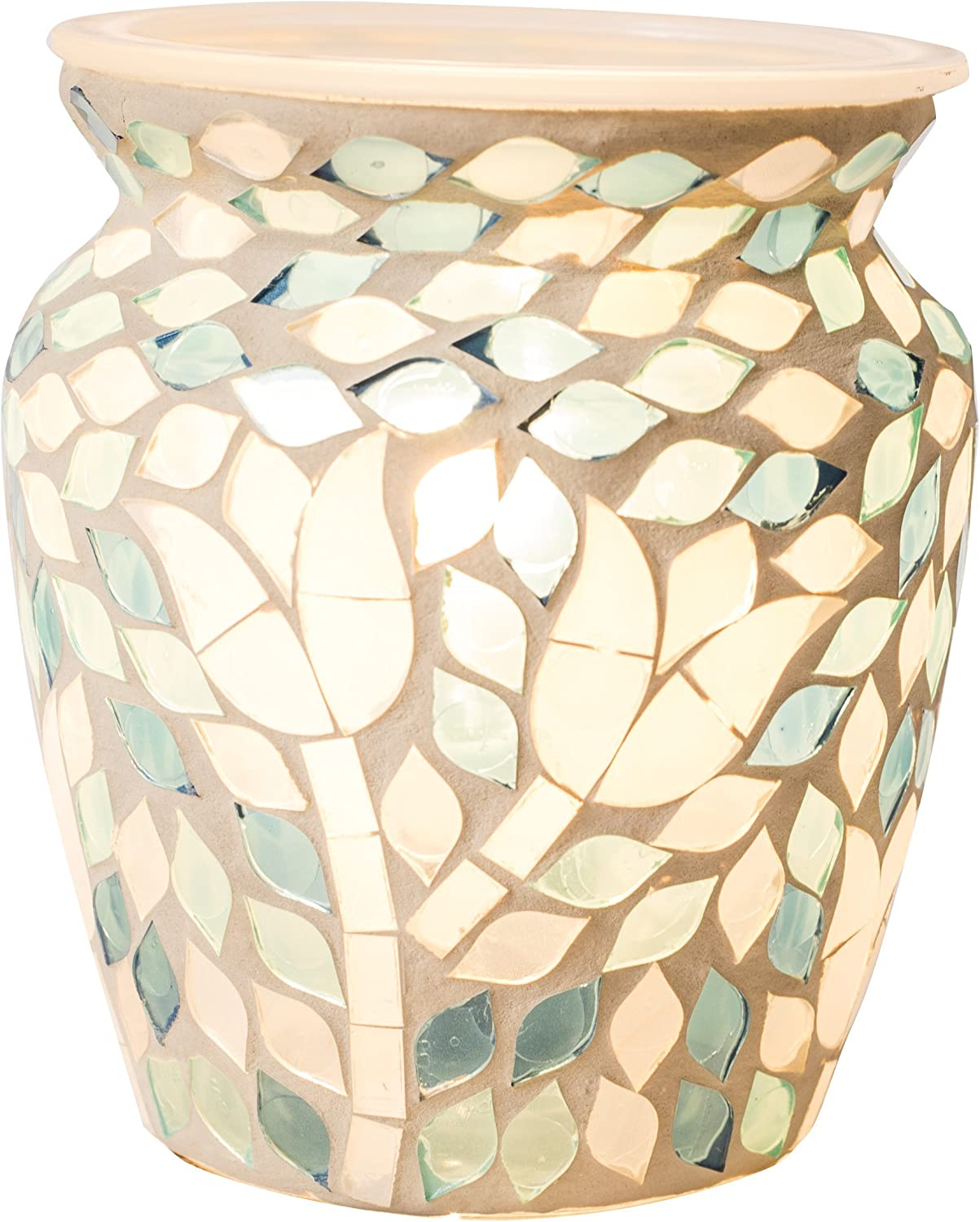 Scentsationals Mosaic Collection - Garden Delight - Scented Wax Warmer - Fragrance Wax Cube Melter & Burner - Electric Home Air Freshener Art Gift