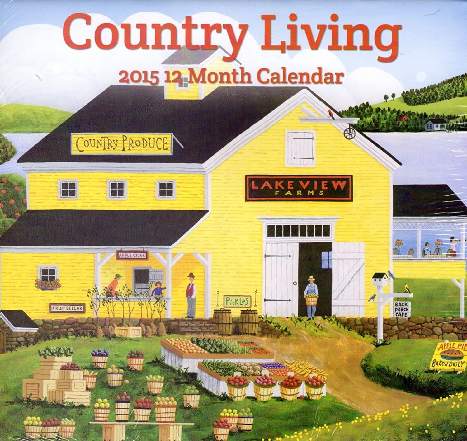 Country Living  2015 12 Month Wall Calendar 12x11