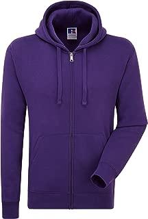 Russell Mens Authentic Full Zip Hooded Sweatshirt/Hoodie