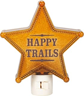 Happy Trails Star Natural Brown 6 x 5 Durable Acrylic Switch Night Light