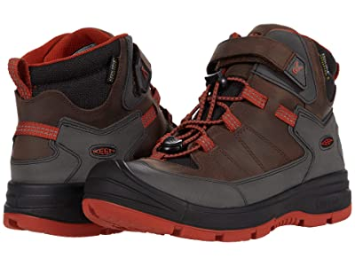 KEEN Kids Redwood Mid WP (Little Kid/Big Kid) (Coffee Bean/Picante) Boy